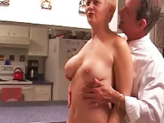 Naked in kitchen, Mature naked, Kitchen mature